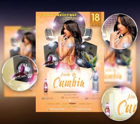 .Fiebre De Cumbia Flyer Template by Allucard9