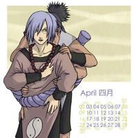 Naruto-Shounen Ai Cal-Apr by Kagaya