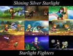 Shining Silver Starlight: Starlight Fighters by SkunkStarlight
