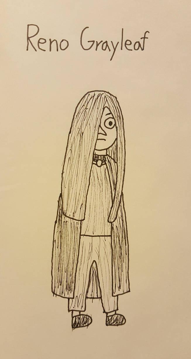Reno Grayleaf Sketch by SkunkStarlight