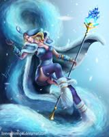 Crystal Maiden - Dota 2 fanart by Azaggon