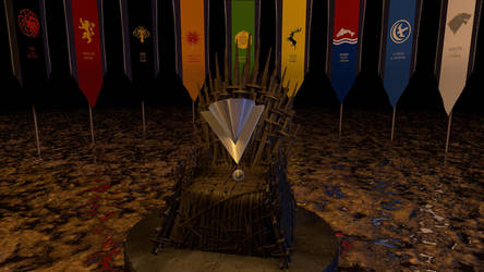 Iron Throne with Logo by 3Danim8or