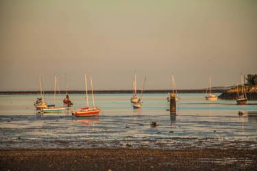 Boats in the water by DawnAllynnStock