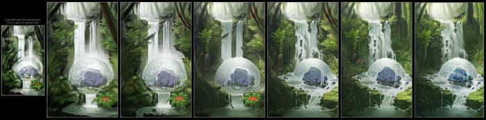 Solace - Progress by LhuneArt