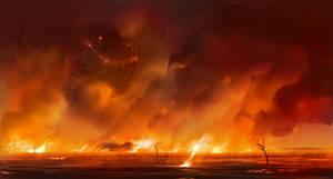 Field of Fire by LhuneArt