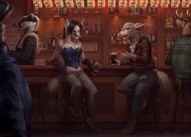 Drink with me by LhuneArt