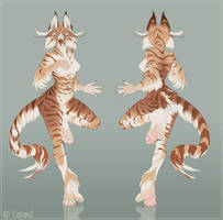 Feline Character Design by LhuneArt