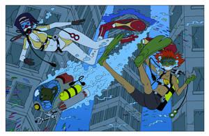 Underwater Bebop - Color Commission by The-Sakura-Samurai