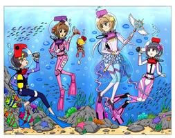 LAMA Scuba Cardcaptor Queens by The-Sakura-Samurai
