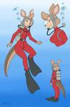 Matilda Scuba (FDE) - Color Commission by The-Sakura-Samurai