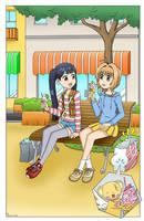 Sakura and Meiling Ice Cream Time - Color Version by The-Sakura-Samurai