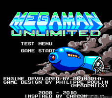 MegaMan Unlimited Title Screen by MegaPhilX