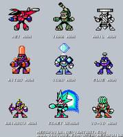 MMU Robot Masters Sprites by MegaPhilX