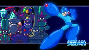 Megaman Unlimited Wallpaper: Robot Masters by MegaPhilX