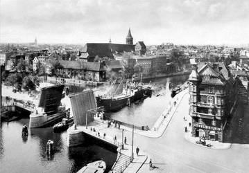 Konigsberg- bridge and city view by julius1880