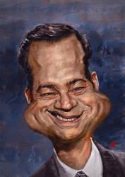 Jimmy Kimmel caricature by KhasisLieb
