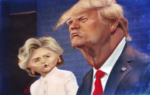 Trump Clinton Debate by KhasisLieb