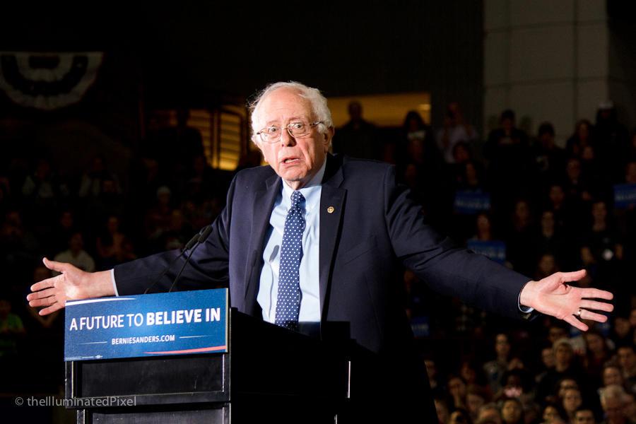 Bernie Sanders at UMass Amherst 22feb16 by AddamRaeWolff
