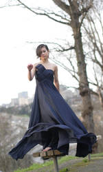 navy blue dress by M-Twins