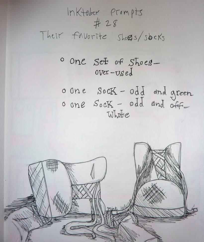 inktober__28_their_favorite_shoes_socks_