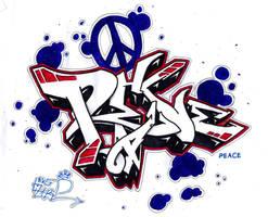 peace graffiti by rocklizard