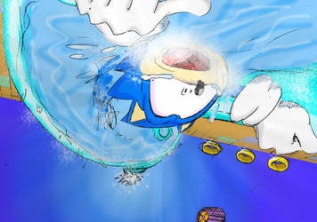 hydrocity-sonic's aquaphobia by chukadrawer