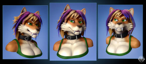 Spark Bust Commission - Expressions by chemb0t