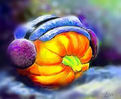 Snowy Pumpkin by happytimer