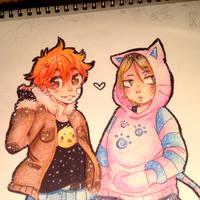 Hinata and Kenma by LambChopss