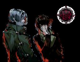 [Render] Yomo and Nishiki by Araki96Neko