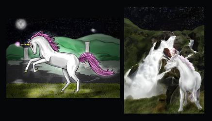 Unicorn night by aldana07