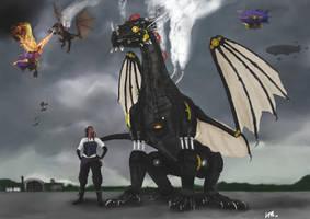 Steam Dragon Wars by aldana07