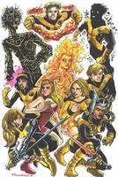 New Mutants by olybear