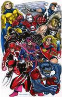 Dark Avengers, Dark X-Men by olybear