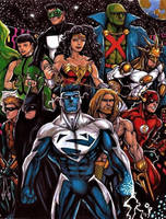 JLA, Circa 1997 by olybear