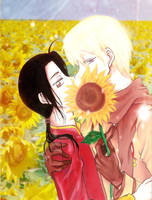 Russia x China: Sunflower Love by razephyr