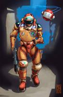 Trooper and Bot by Balaskas