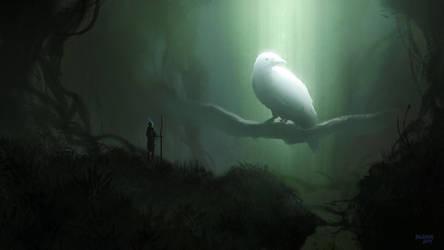 Great White Crow by Balaskas