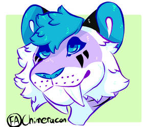 (C) Stereo the Sabertooth Tiger Headshot  by Chimeracon