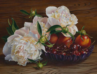 Still life with Peonies by VeraZowa