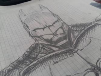 bman sketch by radioactiveapple17