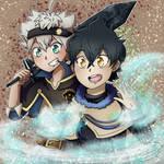 Asta and Yuno by JirachiAtSundown