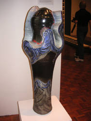 Wave pot with glaze by CLAYSURFER