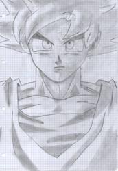 Goku Super Sayan God Drawing by xDome