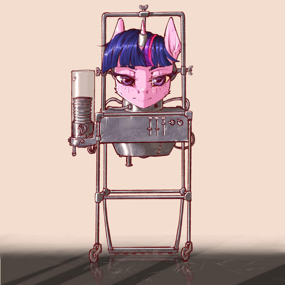 Professor Sparkle's Head by MadHotaru