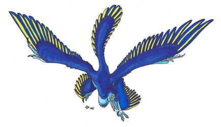 Microraptor commission color by MsMergus