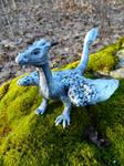 Silver Dragon Sculpture by MsMergus