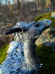 Silver Dragon Head by MsMergus