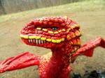 Red Desert Dragon Headshot by MsMergus