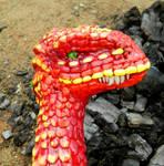 Red Desert Dragon Headshot II by MsMergus